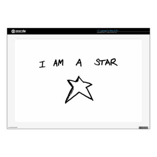 "I AM A STAR 17"" Laptop For Mac & PC Skin Laptop Skins"