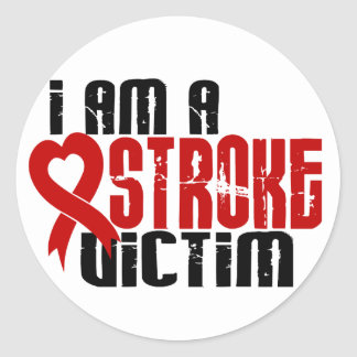 I Am A Stroke Victim Round Sticker