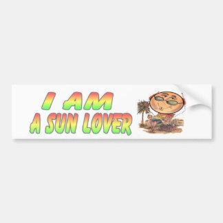 I am A Sun Lover Bumper Sticker
