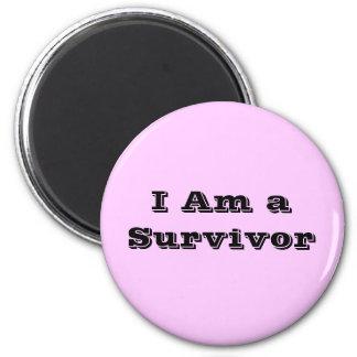 I Am a Survivor 2 Inch Round Magnet