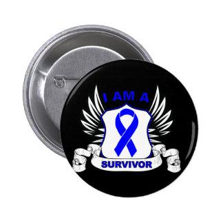 I am a Survivor - Anal Cancer Pinback Button
