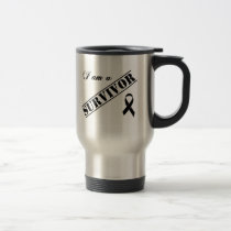 I am a Survivor - Black Ribbon Travel Mug