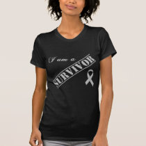 I am a Survivor - Brain Tumor / Cancer Grey Ribbon T-Shirt