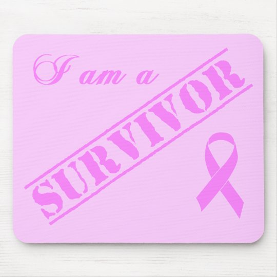 I am a Survivor - Breast Cancer Pink Ribbon Mouse Pad