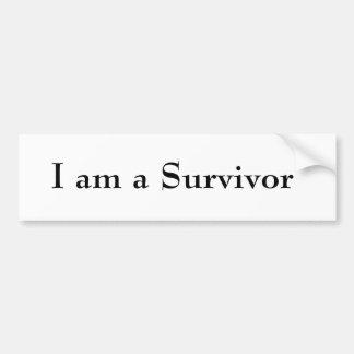 I am a Survivor Car Bumper Sticker
