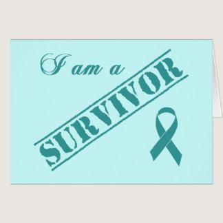 I am a Survivor - Cervical Cancer Teal Ribbon Card