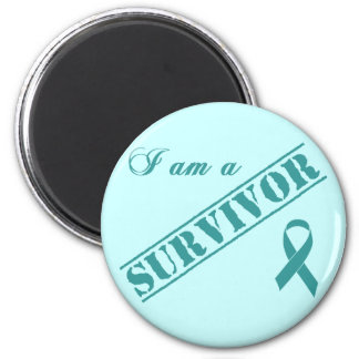 I am a Survivor - Cervical Cancer Teal Ribbon Magnet