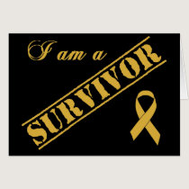 I am a Survivor - Childhood Cancer Gold Ribbon Card