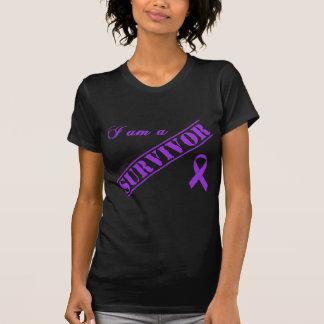 I am a Survivor - Crohns & Colitis Purple Ribbon T-Shirt