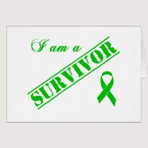 I am a Survivor - Green Ribbon Card