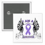 I am a Survivor - Hodgkins Lymphoma Pinback Button