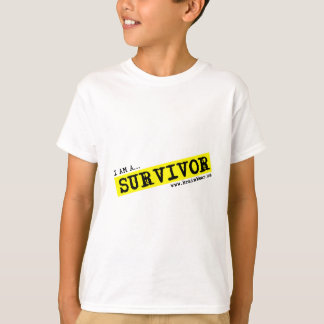 """I AM A SURVIVOR""    -   Kids TBI Survivor T Shirt"