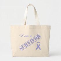 I am a Survivor - Lavender Ribbon General Cancer Large Tote Bag