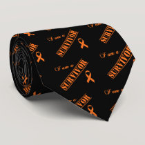 I am a Survivor - Orange Ribbon Tie