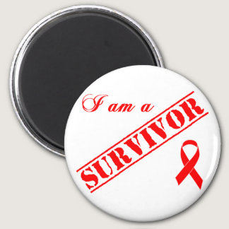 I am a Survivor - Red Ribbon Magnet