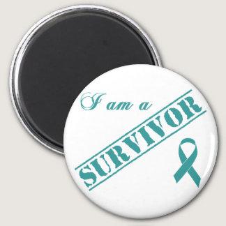 I am a Survivor - Teal Ribbon Magnet