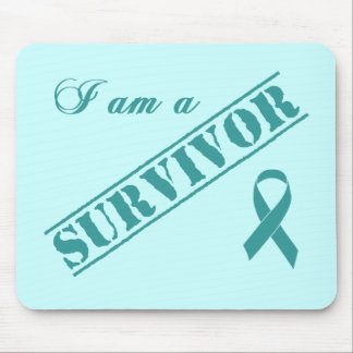 I am a Survivor - Teal Ribbon Mouse Pad