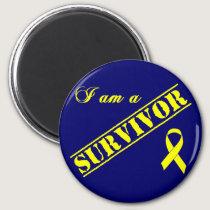 I am a Survivor - Yellow Ribbon Magnet