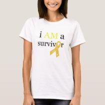 i AM a survivor (Yellow) T-Shirt