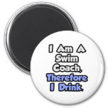 I Am A Swim Coach, Therefore I Drink Refrigerator Magnet