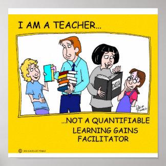 I am a teacher poster