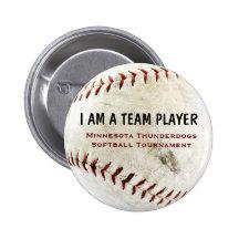 I am a Team Player Pinback Button