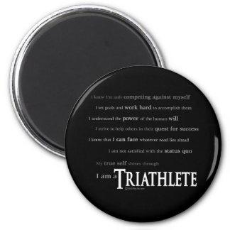 I am a Triathlete 2 Inch Round Magnet
