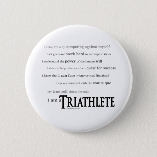I am a Triathlete Button