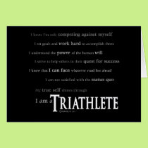 I am a Triathlete Card