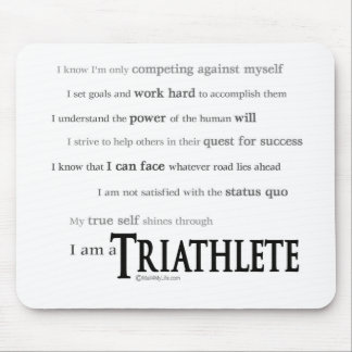 I am a Triathlete Mouse Pad