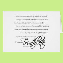 I am a Triathlete - Script Card