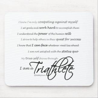 I am a Triathlete - Script Mouse Pad