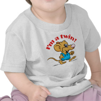I am a Twin and Me Too! Shirts- mousey