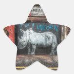 I Am A Unicorn, Shoreditch Graffiti (London) Star Sticker