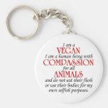 I Am A Vegan Keychain