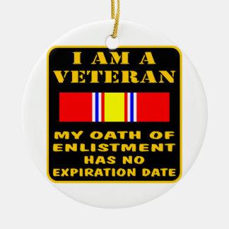 I Am A Veteran My Oath Of Enlistment Has No Expire Christmas Tree Ornament