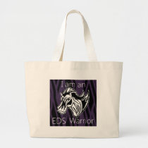 I am a warrior.png large tote bag