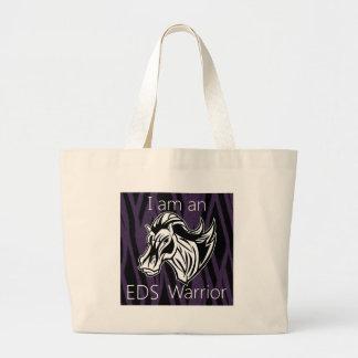 I am a warrior.png large tote bag