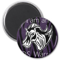 I am a warrior.png magnet