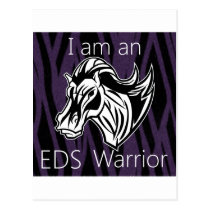 I am a warrior.png postcard