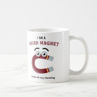 I Am a Weird Magnet Classic White Coffee Mug