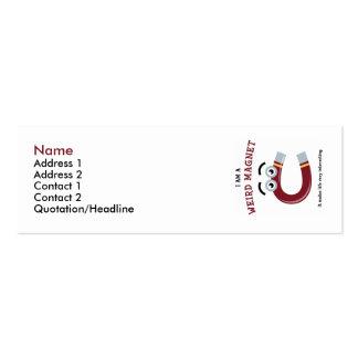 I Am a Weird Magnet Profile Card Template Mini Business Card