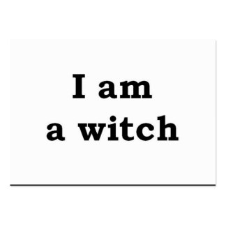 """I am a witch"" Business Card"