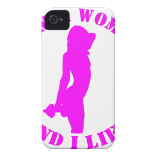 I am a woman and I lift official design pink iPhone 4 Case