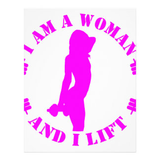 I am a woman and I lift official design pink Letterhead