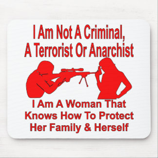 I Am A Women Who Can Protect Her Family & Herself Mouse Pad