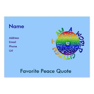 I Am A World Citizen Business Card Templates