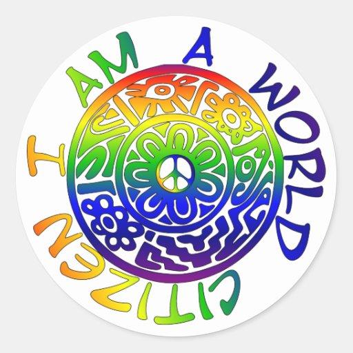 I Am A World Citizen Sticker