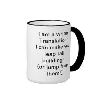 I am a Writer Ringer Mug