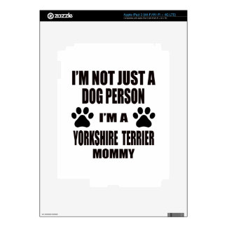 I am a Yorkshire Terrier Mommy Decal For iPad 3